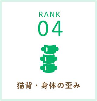 RANK04.猫背・身体の歪み